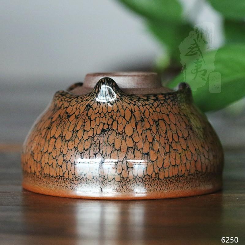 建盏大师陈其富,黄鹧鸪圆小茶盏