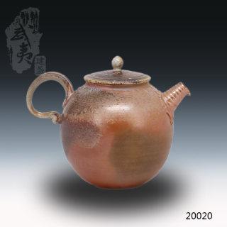 艺术匠心杨树,柴烧茶壶