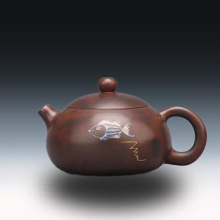 工艺美术大师张馨予,放空(建水紫陶壶)