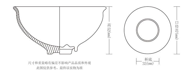 建盏大师陈其富,黄鹧鸪斑小茶盏