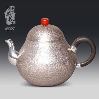 银壶大师李昊映,梨形泡茶壶