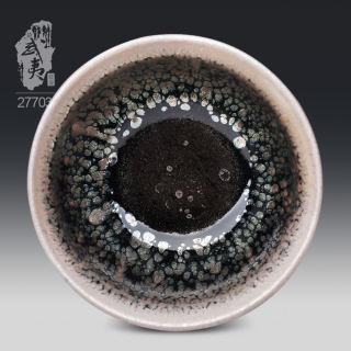 建盏大师李达,禅定鹧鸪斑茶盏