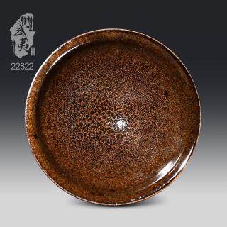 建盏大师危敏捷,束口精品传统釉(柴烧)