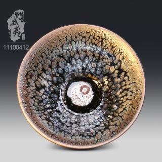 建盏大师李达,撇口鹧鸪斑茶盏