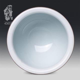 青瓷大师潘建波,鸡心杯(月白釉)