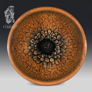 建盏大师陈其富,束口褐色鹧鸪斑小茶盏